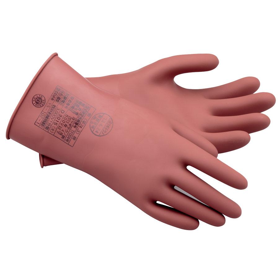 耐電ゴム手袋 低圧用ゴム手袋  商品コード 4062020200 商品名 耐電ゴム手袋 低圧用ゴ