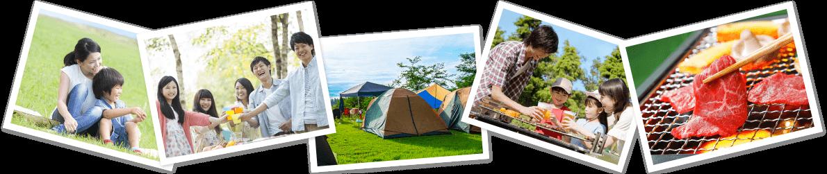 キャンプやバーベキューなど、レジャーのお供に塩熱飴シリーズ