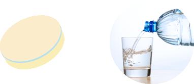 塩熱飴なら、1粒とコップ1杯(約100ml)のお水でまかなえます。