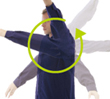 袖部 新立体裁断構造(360度回転)