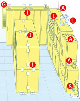 オフィスの防災 ロッカー、PC、キャビネットの転倒に備える。
