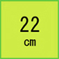 22cm(安全靴)