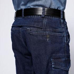 収納力の高いL 字型ポケット