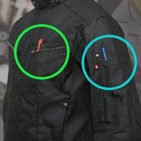袖ペンポケット(左)/胸ペンさし(左)