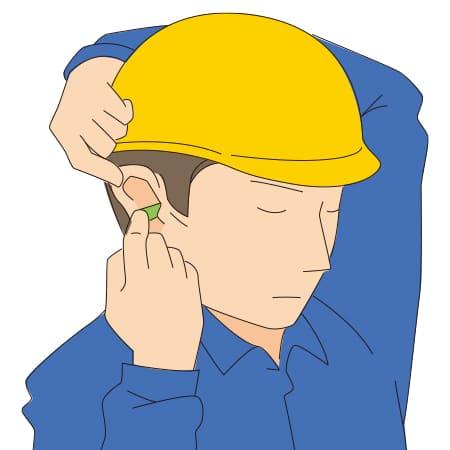 耳栓の挿入方法 2