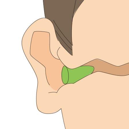 耳栓の挿入方法 4