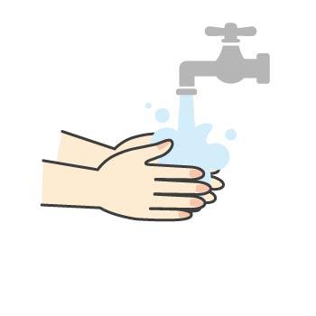 10 流水で泡をよく洗い流します。