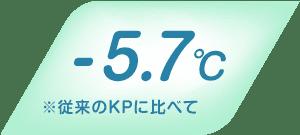 マイナス5.7℃ ※従来のKPに比べて