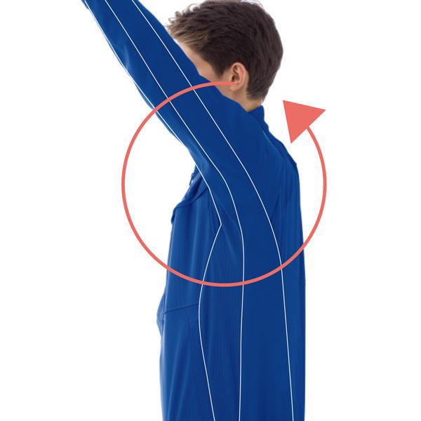 袖部 新立体裁構造(360°回転仕様)